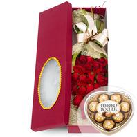 장미사각꽃상자 2호(초콜렛세트)
